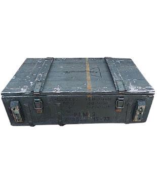 Flache grüne koffertruhe 1