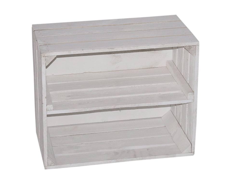 sch ne wei e holzkiste f r schuh und b cherregal50 x 40 x 30 cm. Black Bedroom Furniture Sets. Home Design Ideas