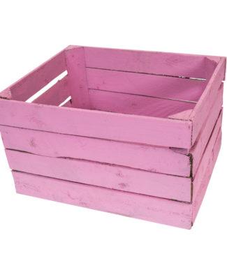 Apfelkiste, pink gestrichen