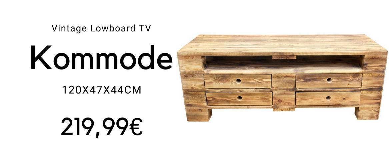 Vintage Kommode aus Holz