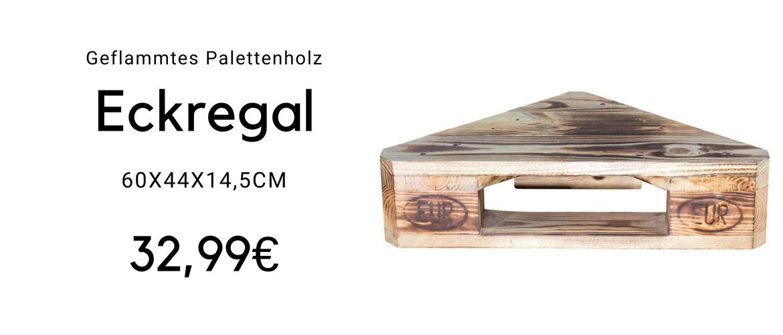Palettenholz-Eckregal