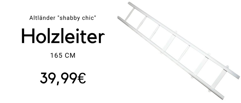 """Altländer Originale Holzleiter """"shabby chic"""""""