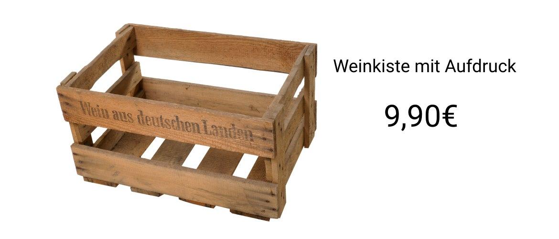 """Weinkiste """"Wein aus deutschen Landen"""""""