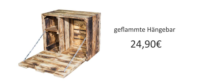 Holzkisten-Hängebar