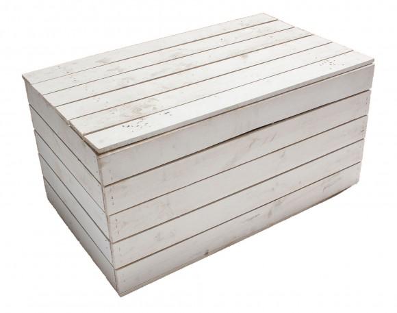 Holztruhe weiß groß1