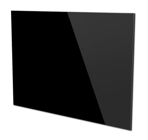 Glasplatte schwarz