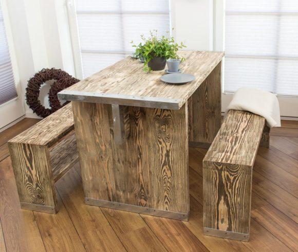 Vintage Tisch aus Bohlenholz