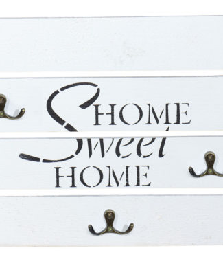 Home Sweet Home weißes Schlüsselbrett