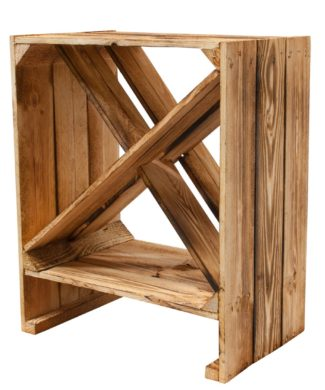 Schickes Weinregal aus Holz