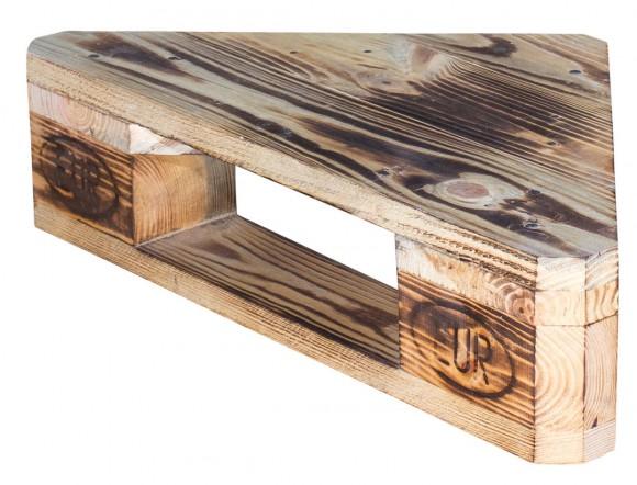 Dreieckiges Regal aus Palettenholz