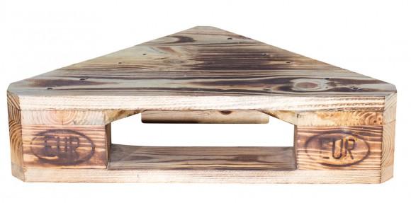 Eckregal aus Palettenholz im 4er-Sparset