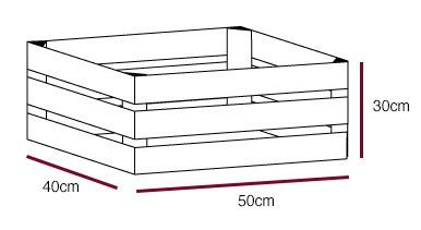 50 x 40 x 30 cm Holzkiste