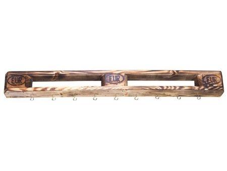 Eckregal Wandregal Holzregal aus geflammten Palettenholz 60x44x14,5cm